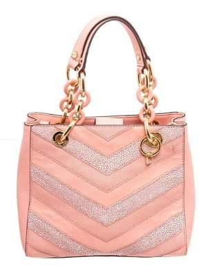 Michael Kors Pink Leather Cynthia Shoulder Bag