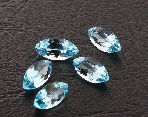6: Blue Topaz Parcel 5 Gemstones 15.25ctw DK419