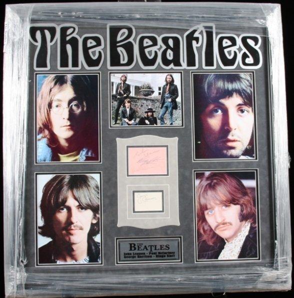 8: Beatles Autographed Album Collage
