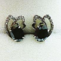 10: Ladies Blue Sapphire Earrings cts 3.82DM-50