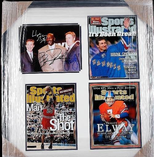 12: Michael Jordan John Elway Wayne Gretzky Autograph