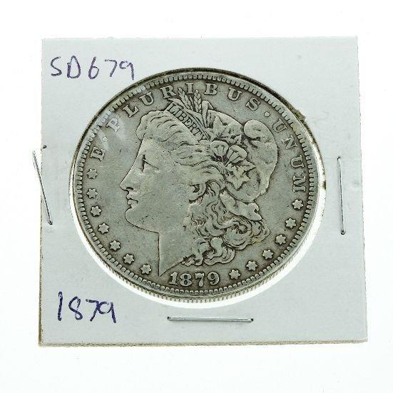 18: 1879 Morgan Silver Dollar VG+ SD679