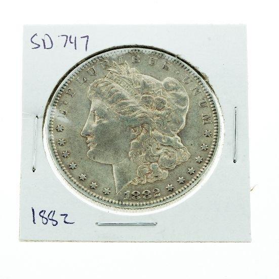 19: 1882 Morgan Silver Dollar VG+ SD747