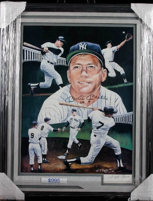 25: Mickey Mantle 16x20 Autographed Lithograph