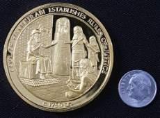 233: Code of Hammurabi #6 24Kt Gold Plated Sterling Sil