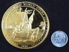 507: Columbus' Voyage #42 24Kt Gold Plated Sterling Sil