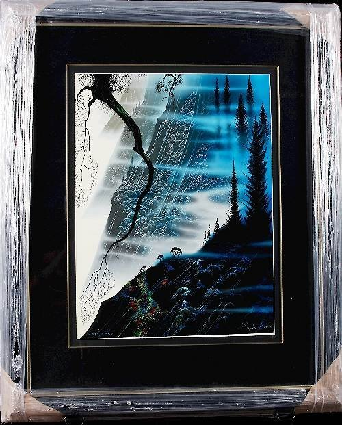 7: Eyvind Earle - Sea Cliff and Redwoods Autographed