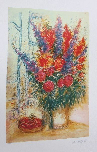 16: Marc Chagall - Bowl of Cherries - Print