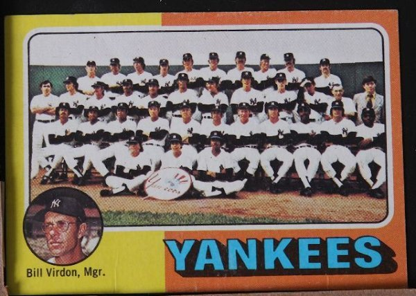 20: 1975 Yankees Team Vintage Baseball Card C13