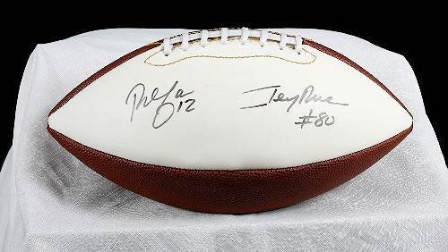 22: Jerry Rice & Rich Gannon Autographed Football