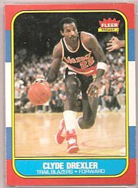24: 1986 Fleer Clyde Drexler Rookie Basketball Card