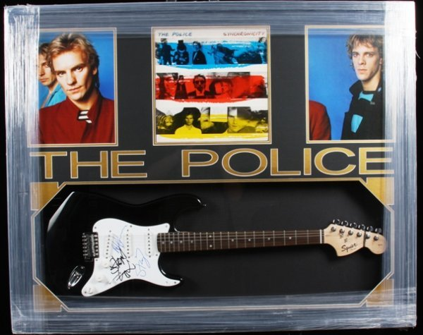 21: The Police Autographed Guitar Collage