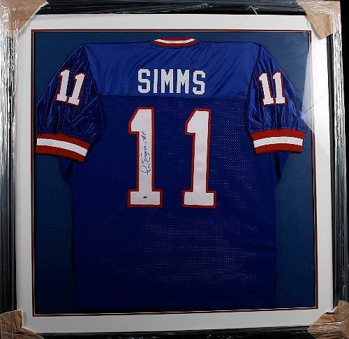 297: Phil Simms Autographed Giants Jersey