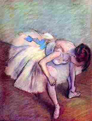 Edgar Degas - Dancer Bent Over