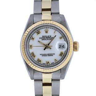 Rolex Ladies 2T Yellow Gold & Stainless Steel White