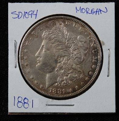 1: 1881 Morgan Silver Dollar SD1094