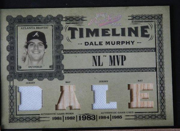 10: 2005 Prime Cuts Dale Murphy Jersey & Bat Card 17/50