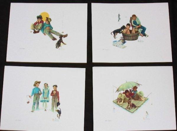 12: Norman Rockell Me & My Pal (Set of Four Prints)