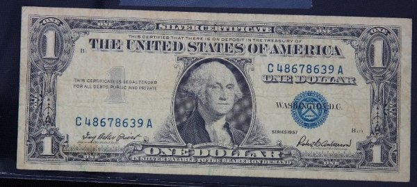 15: 1957 $1.00 Washington Silver Certificate PM1171