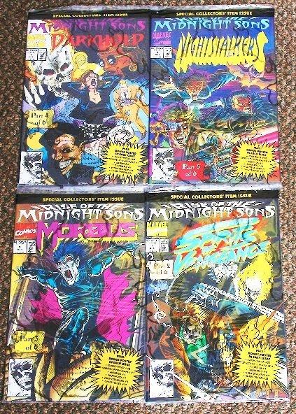 19: Midnight Sons Vintage Comic Books Lot of (4) CB108