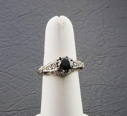 22: Ladies' Black Diamond Ring 2.00ctw DG41A