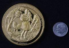 227: Founding of Rome #8 24Kt Gold Plated Sterling Silv