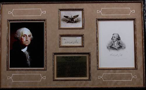 512: George Washington Autographed Letter/Photo Collage