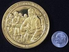 640: England Civil War #56 24Kt Gold Plated Sterling Si