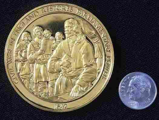 England Civil War #56 24Kt Gold Plated Sterling Si