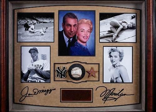 434: Joe DiMaggio & Marilyn Monroe Autographed Baseball