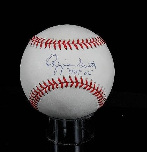 27: Ozzie Smith Autographed Baseball