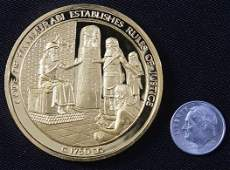 446: Code of Hammurabi #6 24Kt Gold Plated Sterling Sil