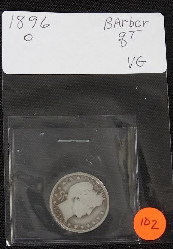 8: 1896-O Barber Quarter-VG  - JH102