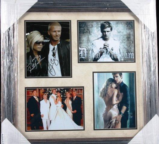 14: David & Victoria Posh Beckham Autographed Collage