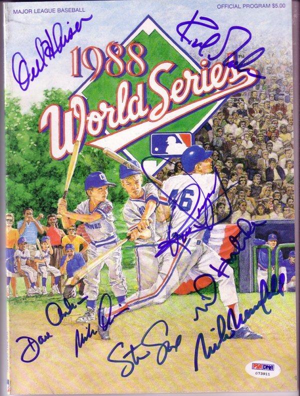 87: Los Angeles Dodgers '88 World Series Signed Program