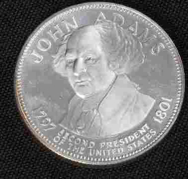 John Adams 33.1gm. Sterling Silver Presidents #5