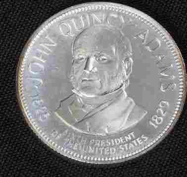 John Quincy Adams 33.1gm. Sterling Silver Presiden