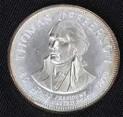 673: Thomas Jefferson 33.1gm. Sterling Silver President