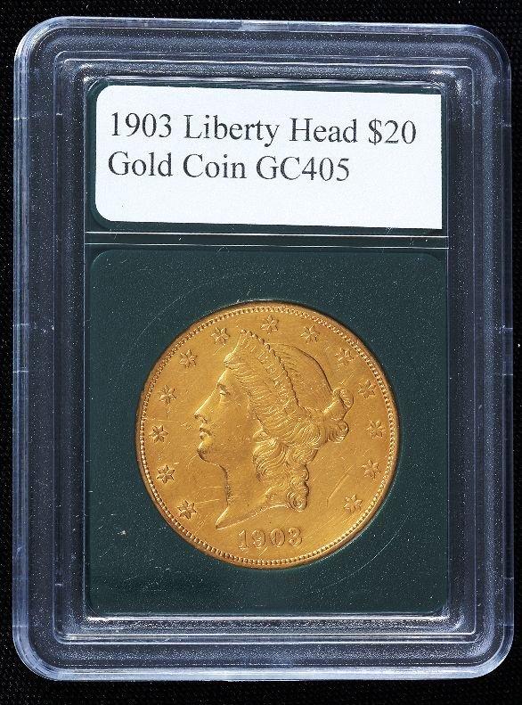 587: 1903 Liberty Head $20.00 Gold Coin GC405
