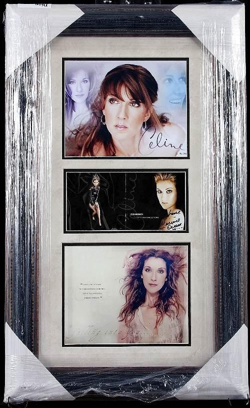 806: Celine Dion Autographed Photo Collage