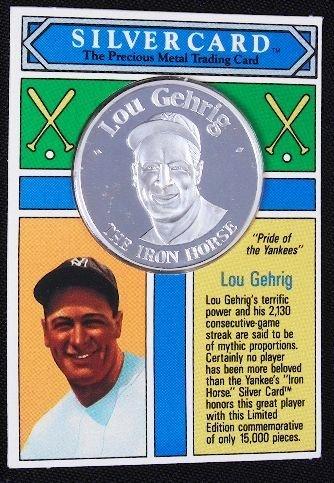 2: Lou Gehrig .99 Silver Coin Silvercard #5