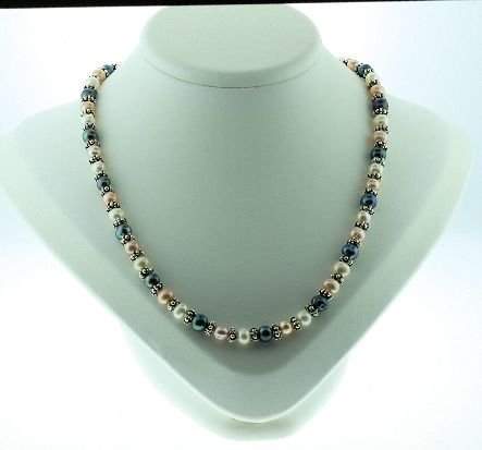 6: Multi Colored Pearl Necklace, Bracelet & Earring Set