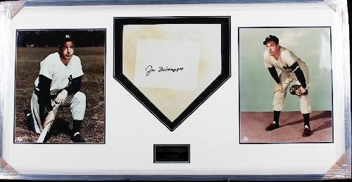 8: Joe DiMaggio Autographed Homeplate Collage