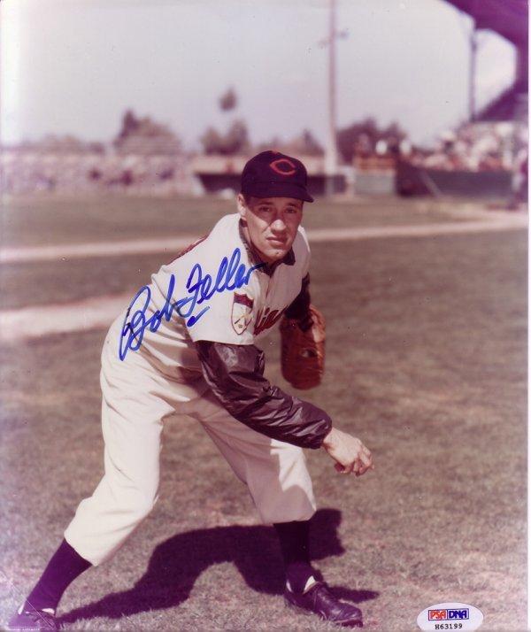 23: Bob Feller Autographed Indians 8x10 Photo PSA/DNA