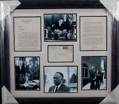 25: J. Edgar Hoover Autographed Letter/Photo Collage