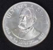 605: Ulysses S. Grant 33.1gm. Sterling Silver President