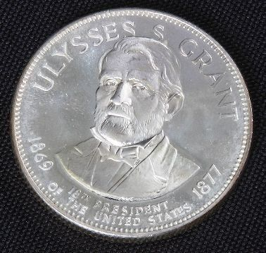 Ulysses S. Grant 33.1gm. Sterling Silver President