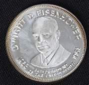 396: Dwight Eisenhower 33.1gm. Sterling Silver Presiden