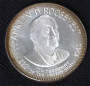 82: Franklin Roosevelt 33.1gm. Sterling Silver Presiden