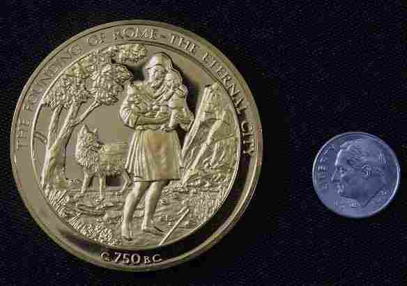 Founding of Rome #8 24Kt Gold Plated Sterling Silv